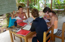 Spanish language group courses in Puerto Viejo