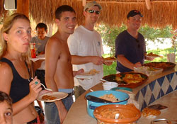 Practice Spanish at bbq in Playa del Carmen
